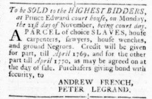 Oct 27 - Virginia Gazette Rind Slavery 2