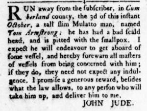 Oct 27 - Virginia Gazette Rind Slavery 7