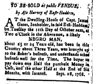 Oct 28 - New-London Gazette Slavery 3