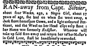 Oct 6 - Boston Weekly News-Letter Slavery 2