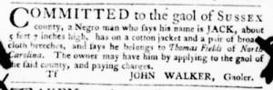 Oct 6 - Virginia Gazette Purdie and Dixon Slavery 6