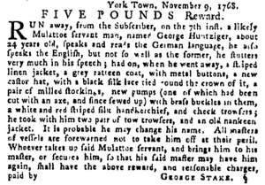 Dec 1 - Pennsylvania Gazette Supplement Slavery 3