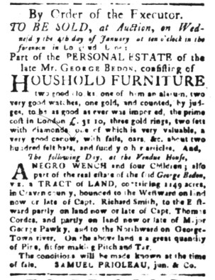 Dec 1 - South-Carolina Gazette Slavery 4