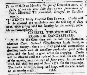 Dec 1 - Virginia Gazette Rind Slavery 10