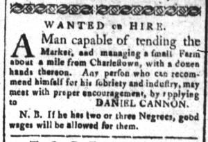 Dec 5 - South-Carolina and American General Gazette Slavery 3