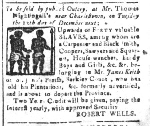 Nov 25 - South-Carolina and American General Gazette Slavery 4