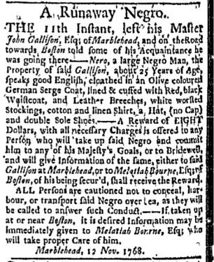 Nov 28 - Boston Evening-Post Slavery 3