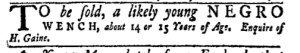 Nov 28 - New-York Gazette Weekly Mercury Slavery 1