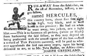 Nov 29 - South-Carolina Gazette and Country Journal Slavery 10