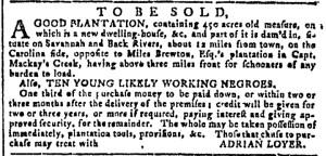 Nov 30 - Georgia Gazette Slavery 1
