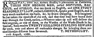 Nov 30 - Georgia Gazette Slavery 4