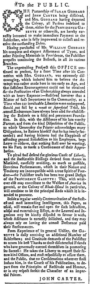 Nov 12 - 11:12:1768 Providence Gazette