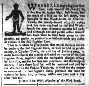 Dec 6 - South-Carolina Gazette and Country Journal Slavery 2