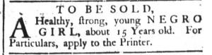 Dec 6 - South-Carolina Gazette and Country Journal Slavery 4