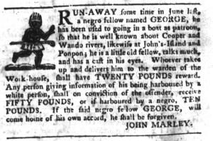 Dec 6 - South-Carolina Gazette and Country Journal Slavery 7