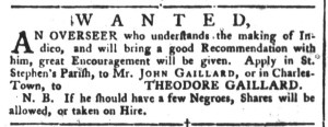 Dec 6 - South-Carolina Gazette and Country Journal Slavery 8