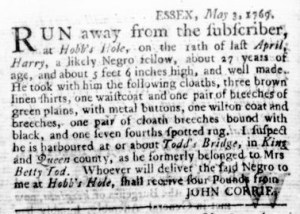 May 11 - Virginia Gazette Rind Slavery 3