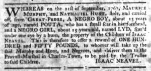 May 18 - South-Carolina Gazette Slavery 6