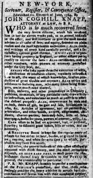 May 22 - New-York Chronicle Slavery 1