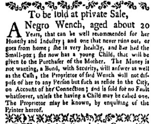 May 22 - New-York Gazette Weekly Mercury Supplement Slavery 2