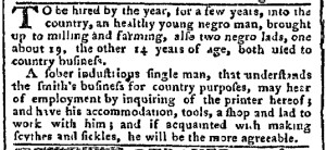 May 22 - Pennsylvania Chronicle Slavery 1