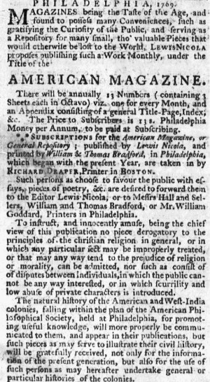 May 25 - 5:25:1769 Massachusetts Gazette Draper