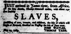 May 25 - Virginia Gazette Purdie and Dixon Slavery 2