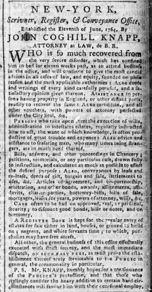 May 29 - 5:29:1769 New-York Chronicle