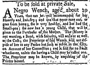 May 29 - New-York Gazette Weekly Mercury Supplement Slavery 1