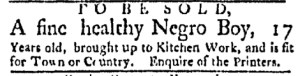 May 8 - Boston Evening-Post Slavery 1