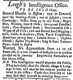 May 8 - Boston Evening-Post Slavery 2