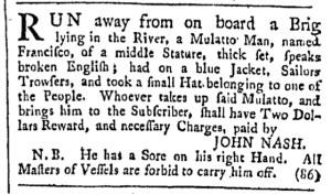 Jul 1 - Providence Gazette Slavery 1