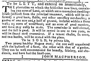 Jul 6 - Pennsylvania Gazette Slavery 3
