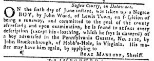 Jul 6 - Pennsylvania Gazette Slavery 5