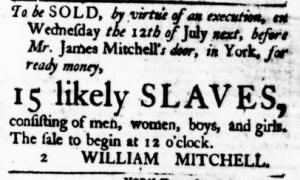 Jul 6 - Virginia Gazette Purdie and Dixon Slavery 1