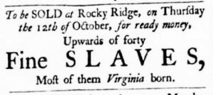 Jul 6 - Virginia Gazette Purdie and Dixon Slavery 3