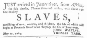 Jun 1 - Virginia Gazette Purdie and Dixon Slavery 6