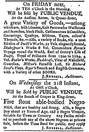 Jun 12 - Boston Evening-Post Slavery 1