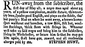 Jun 12 - New-York Gazette Weekly Mercury Slavery 3