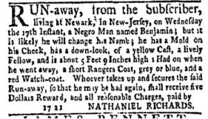 Jun 12 - New-York Gazette Weekly Mercury Supplement Slavery 2