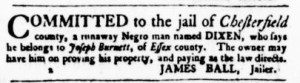 Jun 15 - Virginia Gazette Purdie and Dixon Slavery 2