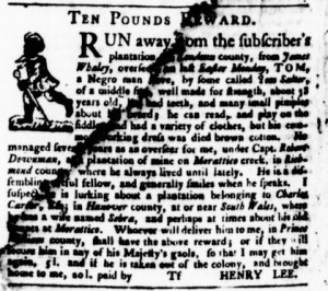 Jun 15 - Virginia Gazette Purdie and Dixon Slavery 7