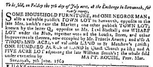 Jun 21 - Georgia Gazette Slavery 1