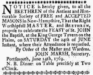 Jun 23 - 6:16:1769 New-Hampshire Gazette