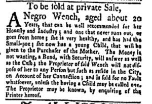 Jun 5 - New-York Gazette Weekly Mercury Slavery 4