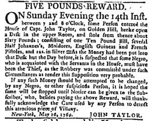 Jun 8 - New-York Journal Supplement Slavery 1