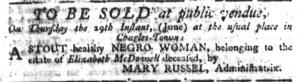 Jun 8 - South-Carolina Gazette Slavery 1