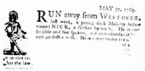 Jun 8 - Virginia Gazette Purdie and Dixon Slavery 4