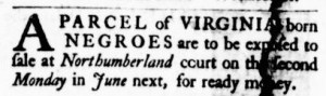 Jun 8 - Virginia Gazette Purdie and Dixon Slavery 7