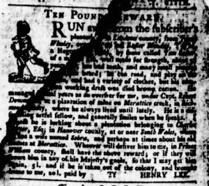 Jun 8 - Virginia Gazette Purdie and Dixon Slavery 8